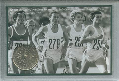 Sebastian Seb Coe Steve Ovett at the Moscow Olympic Games GB Sporting Moments Vintage Athletics Retro Coin Present Display Gift Set 1980