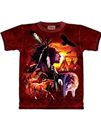 The Mountain - - Collage Homme indien T-shirt, XXX-Large, Multi