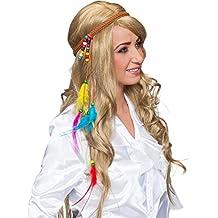 70er Jahre Stirnband Hippie Haarband Flower Power Kopfband Peace Haarschmuck