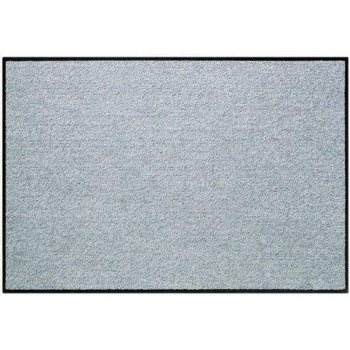 SLU6020-040x060 Fußmatte Wohnmatte SALONLOEWE SILBERGRAU ca. 40 x 60 cm