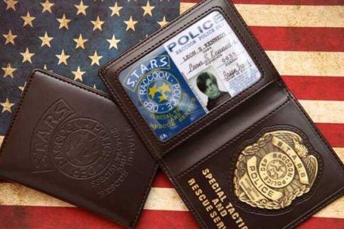 Preisvergleich Produktbild Resident Evil Biohazard S.T.A.R.S ID Holder Brieftasche Portemonnaie Leon S. Kennedy Chris Wesker PS4 Kostüm Cosplay