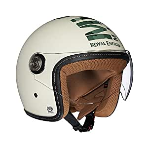 Royal Enfield Off White Open Face with Visor Helmet Size (M)58 CM (RRGHEI000072)