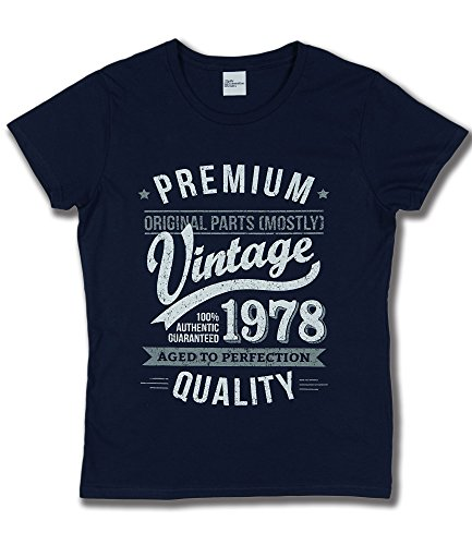 1978 Vintage Year - Aged to Perfection - 40. Geburtstag Frau Fun Damen T-Shirt Marineblau M