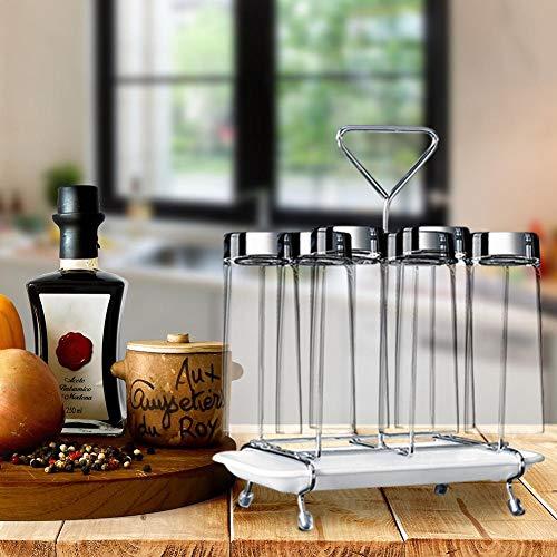 Allowevt Rotierende Tasse Becher Glashalter Rack Edelstahl Ständer für Küche Wäscheständer applied
