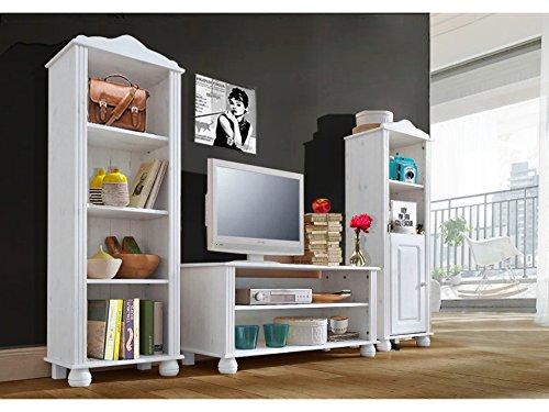 LifeStyleDesign 3001816 Regal Ella, 130 x 30 x 45 cm, kiefer, weiß - 2