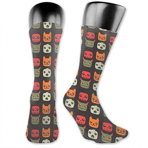 Preisvergleich Produktbild Monster Dog Socks is Best Graduated Athletic & Medical for Men & Women,  Running,  Flight,  Travels yellow socks