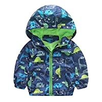 Brightup Children Kids Boy Coat Jacket,Windproof Jacket For Little Boy, Print Outwear