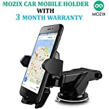 MOZIX Car Mobile Holder/Stand Adjustable with Windshield/Dashboard/Working Desk Mount with Quick One Touch Technology for Mobile Phones