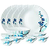 Best Dish Sets - Larah By Borosil Mimosa Opalware Dinner Set, 14-Pieces Review