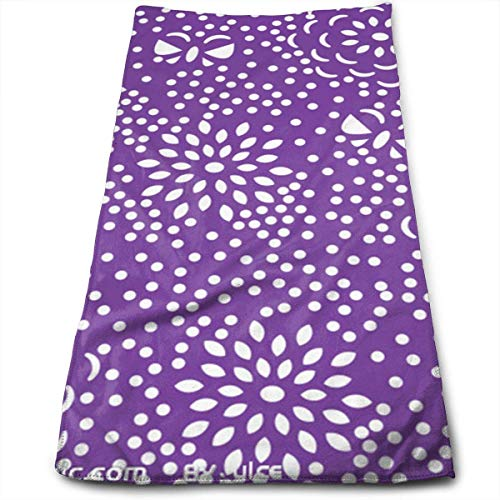 Liumiang Handtuch Exotic Purple Dot Flowers Kitchen Towels Quick-Drying Hair Towel, Beauty Towel, Sports Towel, Car Towel, Furniture Towel 30 X 70CM/12 X 27.5 in