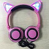 Cewaal Orejas de gato Plegable Brillante Auriculares LED Destello