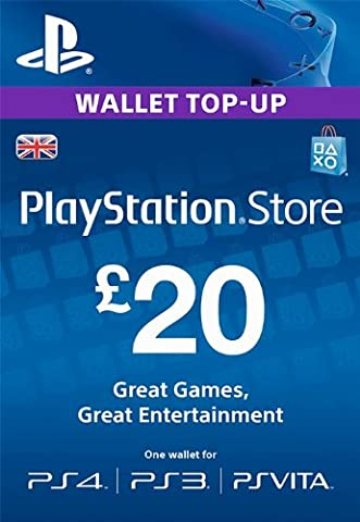 PlayStation PSN Card 20 GBP Wallet Top Up [PSN Download