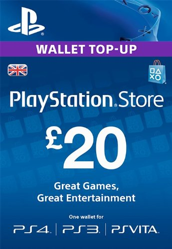 Price comparison product image PlayStation PSN Card 20 GBP Wallet Top Up [PSN Download Code - UK account]