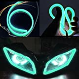 #9: AutoSun Custom Shape Motorcycle Daytime Running Light for All Bikes (Green)