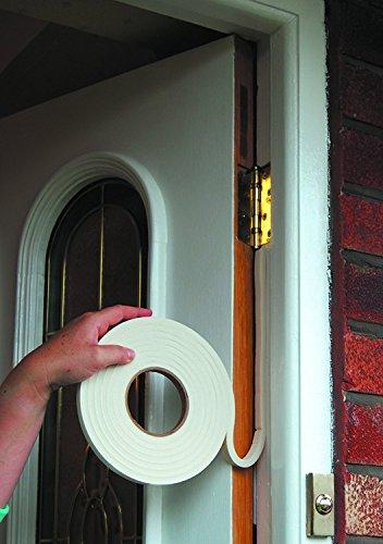 ducomi® parafreddo Aufkleber Gummi EPDM für Türen und Fenster–Dichtung Zugluftstopper Abdichtung für Schlitzen Fensterrahmen–Maximale Lebensdauer: 8Jahre, weiß