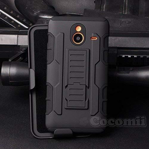 Cocomii Robot Armor Nokia Lumia 640 XL Hülle NEU [Strapazierfähig] Gürtelclip Ständer Stoßfest Gehäuse [Militärisch Verteidiger] Ganzkörper Case Schutzhülle for Nokia Lumia 640 XL (R.Black)