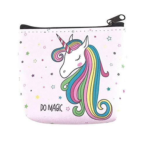 Demarkt Schönes Pferd Cartoon Geldbeutel Münzen Geldbörse Geldtasche Schnalle Münze Beutel Mini Kulturbeutel Münzbeutel Täschchen für Damen Mädchen Size 10 * 9 * 2CM (Stil-3)