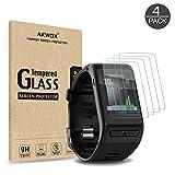 Akwox 4 Stück Schutzfolie für Garmin Vivoactive HR Panzerglasfolie 9H Härtegrad 0.3mm Kratzfest HD Glasfolie für Vivoactive HR