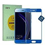 Huawei Honor 7X verre trempé,OFU® Huawei Honor 7X Couverture complète Verre Trempé Protecteur d'écran Protection Résistant aux éraflures Glass Screen Protector Vitre Tempered(Bleu)-2 Piece