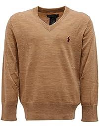 3525U maglione bimbo POLO RALPH LAUREN beige scuro sweater kid