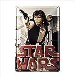 Star Wars - Han Solo Bleschilder Retro - Blechschild Vintage Film - 20x30 - Lizenziertes Originaldesign - LOGOSHIRT