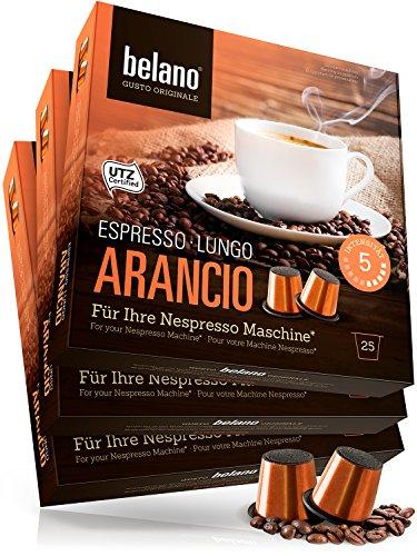 75 Nespresso kompatible Kapsel Capsule Arancio Stärke 5 Espresso Caffe Crema 100% Arabica Kaffee Kapseln Kaffeekapseln kompatibel mit Nespresso-Maschinen*