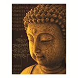 Museum quality peaceful Buddha Painting Frame Modern Abstract Textured Canvas Painting Wall Art Frame For Home Decoration Beautiful Abstrat Art Yellow Orange Blue Ready To Hang For wall Decoration of Home office Hotel Spa Meditation And Gifting