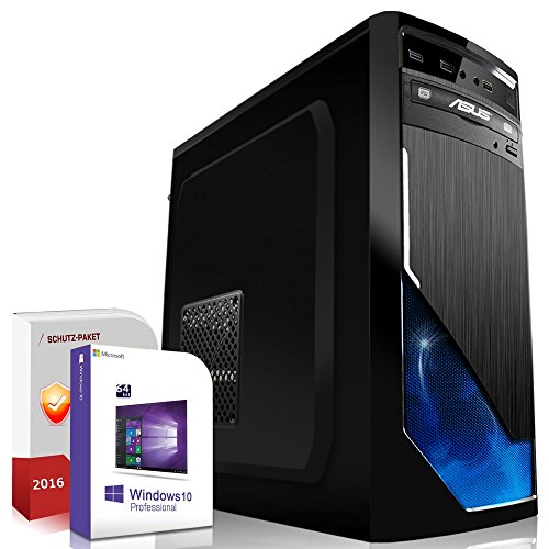 Gaming PC / Multimedia COMPUTER inkl. Windows 10 Pro 64-Bit! - Quad-Core Intel Core i5-7600K 4x 4.2 GHz - Nvidia Geforce GTX 1050 Ti mit 4GB GDDR5 RAM - 16GB DDR4 RAM - 120GB SSD + 500GB HDD - 24-fach DVD Brenner - USB 3.0 - DVI - HDMI - Gamer PC mit 3 Jahren Garantie!
