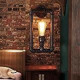 Lanterna a Parete Applique da Parete Lampada da Parete in Cristallo Specchio Illuminazione Frontale Illuminazione Retro Tubazione Dell'Acqua Illuminazione da Parete Illuminazione a Soppalco Industria