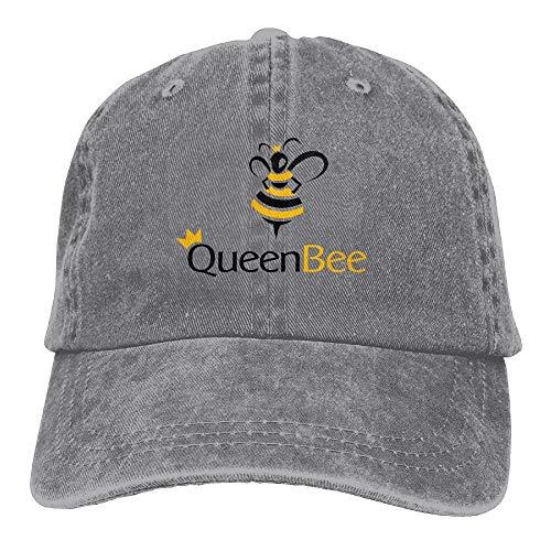 Sweet grape Vintage Denim Cap Hat Queen Bee Six-Panel Adjustable Sports Trucker Baseball Hat for Adults Unisex