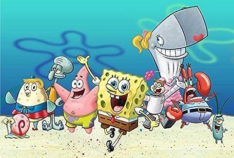 DekoShop Spongebob Torten Druck Bild auf A4 (Spongebob Bilder)