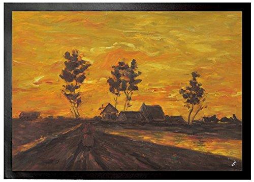 Vincent Van Gogh - Paisaje En La Puesta Del Sol, 1885 Felpudo Alfombri