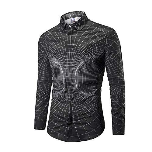 XDDQ Sweatshirt Homme, Sweat-Shirts Automne Hiver Fantaisie,(Automne/Hiver en Maille Filet 3D Science-Fiction Imprimer Chemise DéContractéE Loose)
