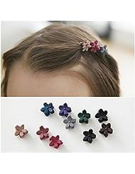 Distinct® 50pcs/set bambino ragazza capelli ornamenti mini fiore forcine capelli bambino Accessori colore casuale