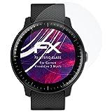 atFoliX Garmin Vivoactive 3 Music Glasfolie - FX-Hybrid-Glass Elastische 9H Kunststoff Panzerglasfolie - Besser als Echtglas Panzerfolie