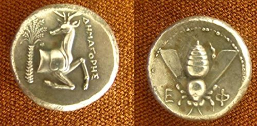 Dracma Efeso Tetradracma argento ape cervi Artemide antica Grecia greca dracma antica Grecia greco argento Magna Grecia antica Grecia valuta Mitologia Storia Archeologia
