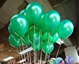 BALLOON JUNCTION Themez only GREEN Metallic Birthday Party Balloons - Pack of 50