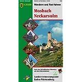 Mosbach, Neckarsulm: Karte des Schwäbischen Albvereins und des Odenwaldklubs (Wandern und Rad fahren )