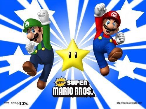 Mario Brothers Mario & Luigi Jumping ~ Edible Image Cake Topper!!! by Kopykake