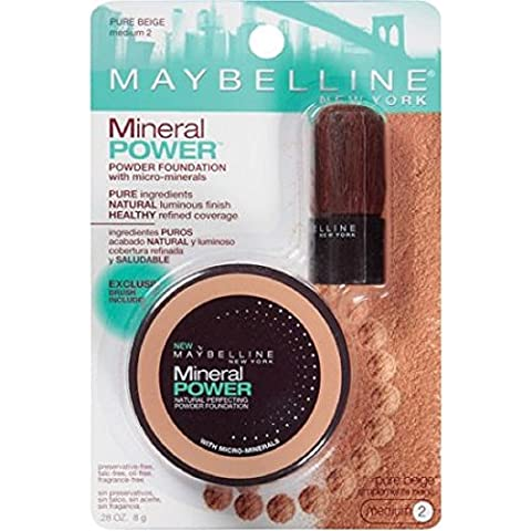Maybelline New York Mineral Power Powder Foundation, 935 Pure Beige by (Maybelline Mineral Foundation)