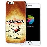 dessana Cocktail Rezepte Transparente Silikon TPU Schutzhülle 0,7mm Dünne Handy Tasche Soft Case für Apple iPhone 6/6S Plus Cosmopolitan