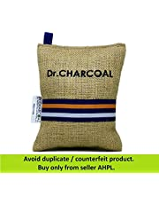 Dr. CHARCOAL Non Electric Air Purifier, Deodorizer and Dehumidifier for Cars, Bathrooms and Kitchen (200g, Modish Khaki)