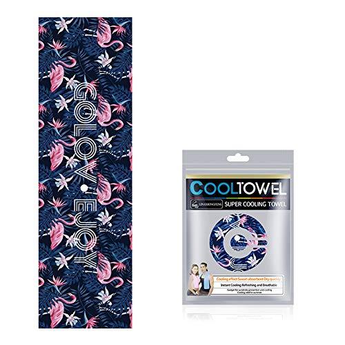Alimagic Mikrofaser Handtuch, Premium Fitness Handtuch, Badetuch, Strandhandtuch, Cooles Handtuch für Sommerwandern, Reisen und Yoga (Flamingo) -