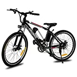 Creine 26 zoll E-Bike Elektrofahrrad Mountainbike elektro Fahrrad mit Kapazität Lithium-Akku LED-Anzeige 250W Max. 35km/h (Schwarz 4)