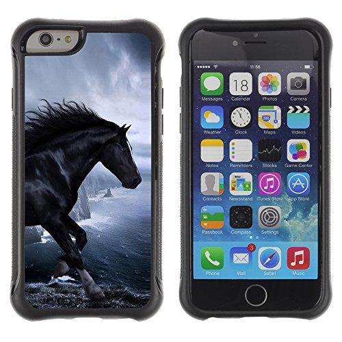 Graphic4You Pferd Tier Design Shockproof Anti-Rutsch Weichen Hülle Case Tasche Schutzhülle für Apple iPhone 6 Plus / 6S Plus Design #2