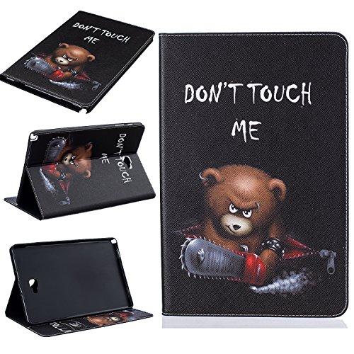 Samsung Galaxy Tab A 10.1mit S Pen (P585/P580) Fall, beimu Ultra Leicht Slim PU Leder mit Kreditkarte & ID Card Slot Schutzhülle für Samsung Galaxy Tab A 10.1mit S Pen (sm-p585/sm-p580), Bär