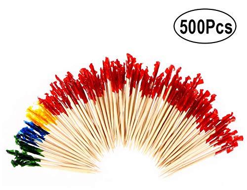 -Picks Cocktail-Sticks Obststäbchen und Zahnstocher 500pc - verschiedene Farben ()