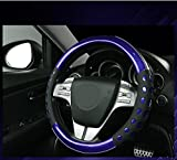 #7: NIKAVI Car Fashion Steering Wheel Cover (Blue)