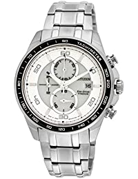 Citizen Eco-Drive Analog White Dial Men's Watch CA0341-52A- 23 cm