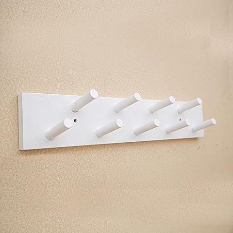 La parete ganci dopo una porta appendiabiti parete creative in vero legno appendiabiti camera da letto soggiorno parete , dragnets appendiabiti 9 gancio bianco a doppia fila